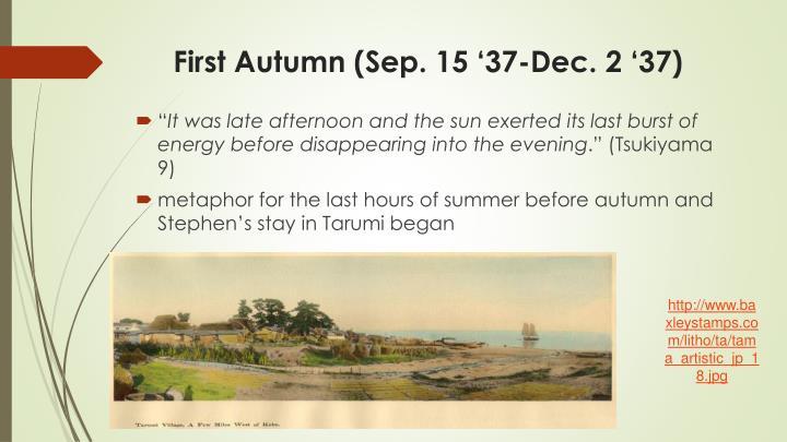 First autumn sep 15 37 dec 2 371
