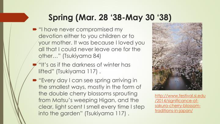 Spring (Mar. 28 '38-May 30 '38