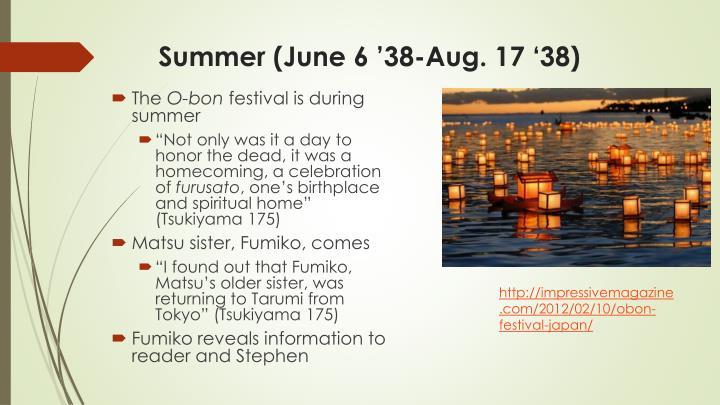 Summer (June 6 '38-Aug. 17 '38)