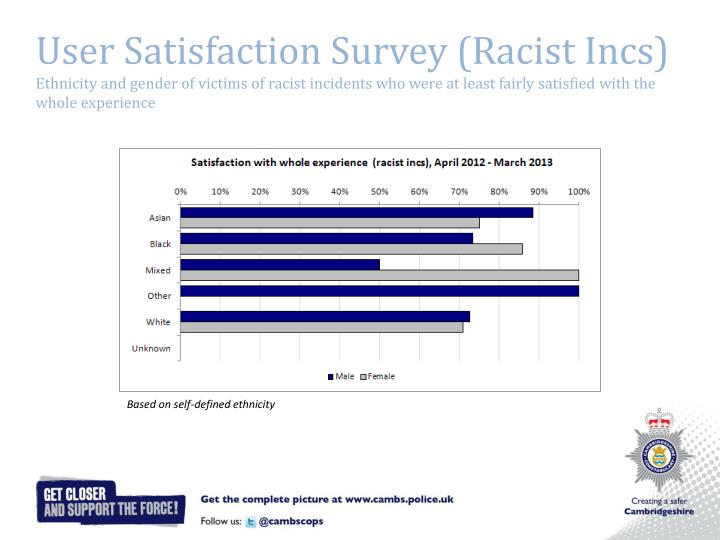 User Satisfaction Survey (Racist