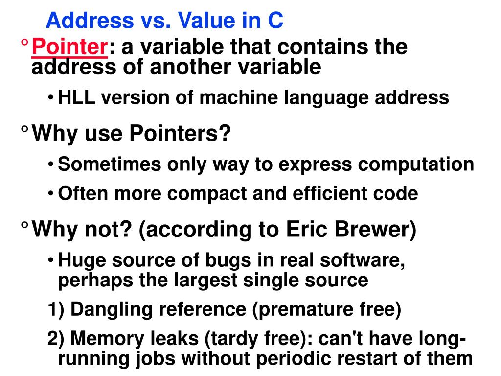 PPT - CS231 Assembly Wrapup, Pointers Revisited PowerPoint