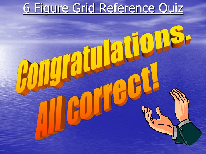 6 Figure Grid Reference Quiz21 Congratulations