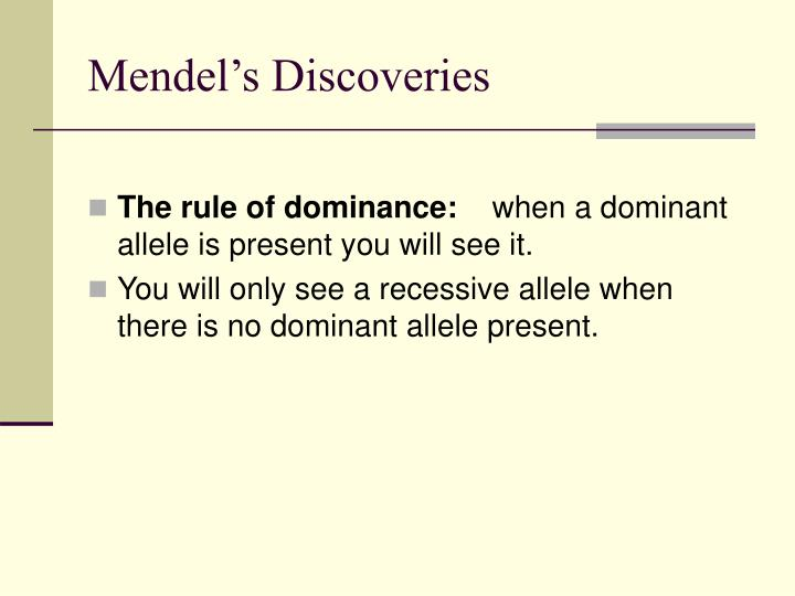 Mendel's Discoveries