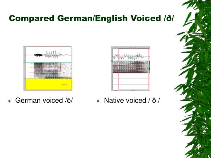 Compared German/English Voiced /