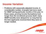 income variation