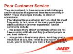 poor customer service