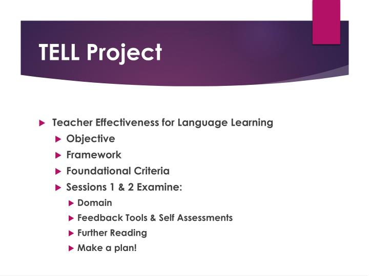 Teacher Effectiveness for Language Learning
