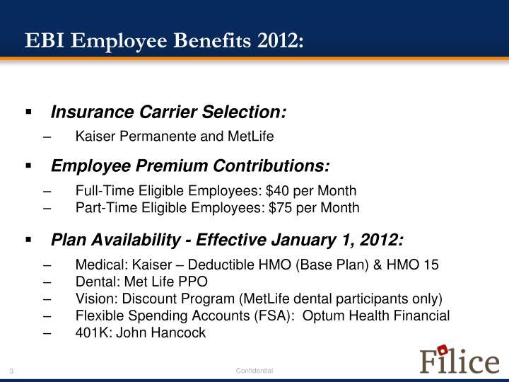 Ebi employee benefits 2012