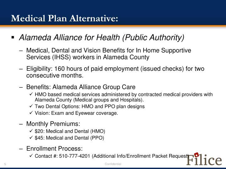 Medical Plan Alternative: