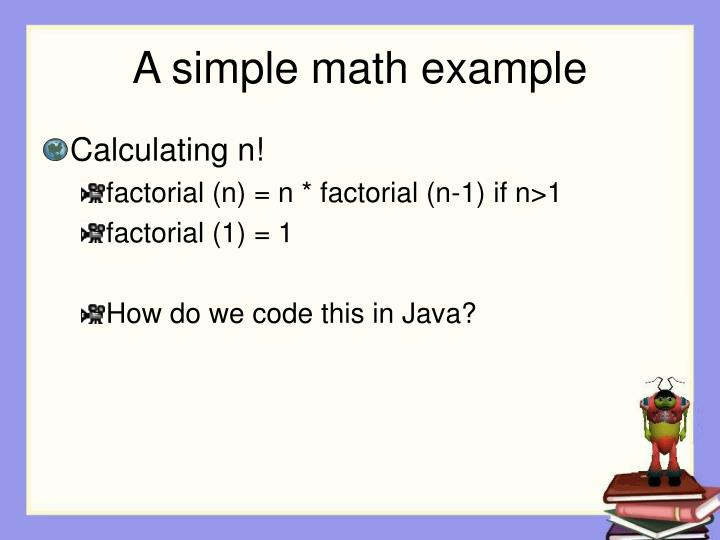 A simple math example