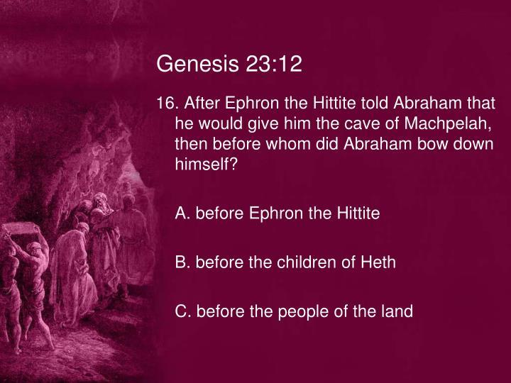 Genesis 23:12