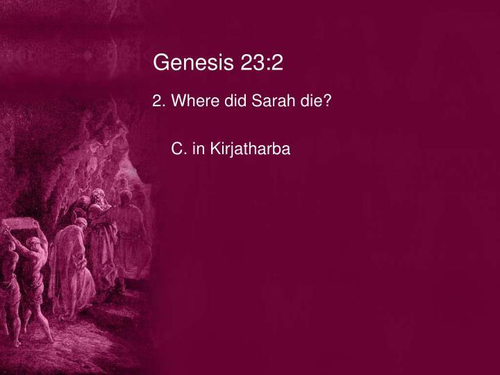 Genesis 23:2