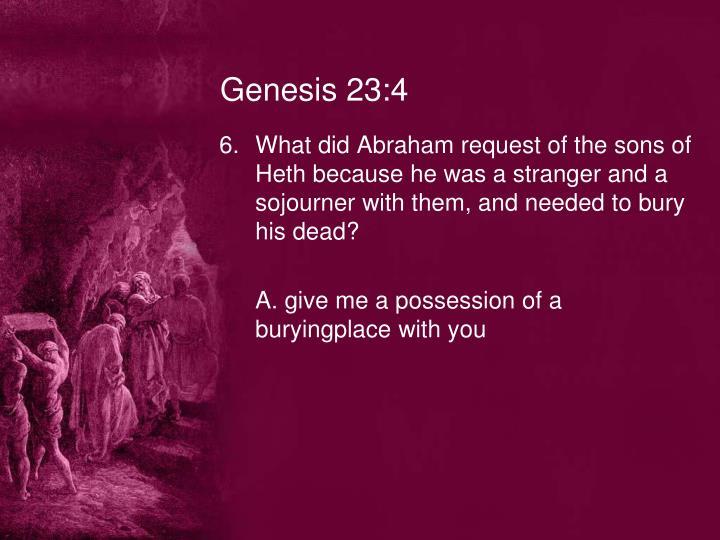 Genesis 23:4