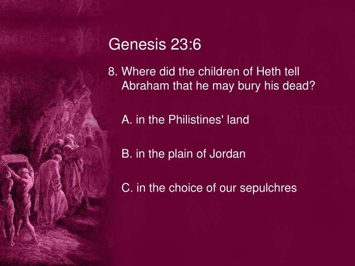 Genesis 23:6