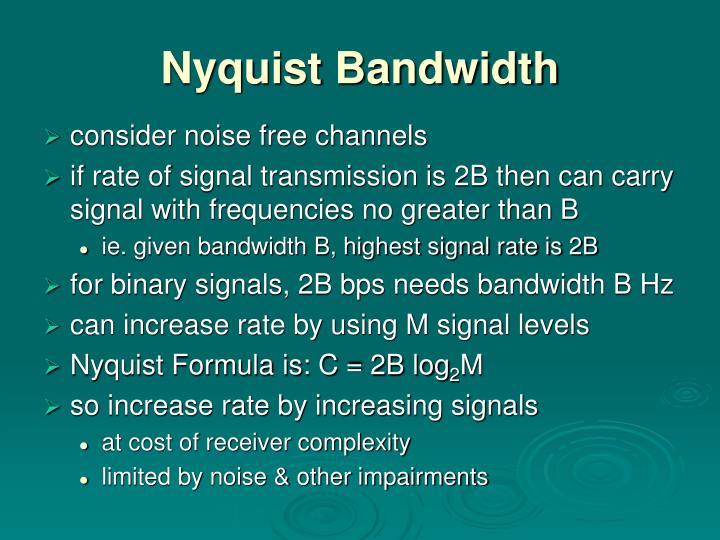 Nyquist Bandwidth