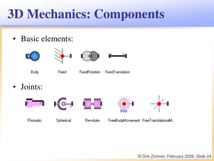 3D Mechanics: Components