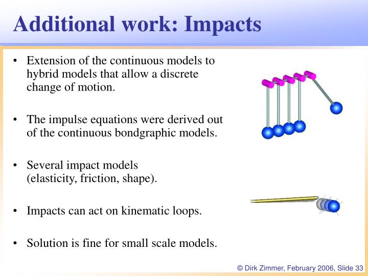 Additional work: Impacts