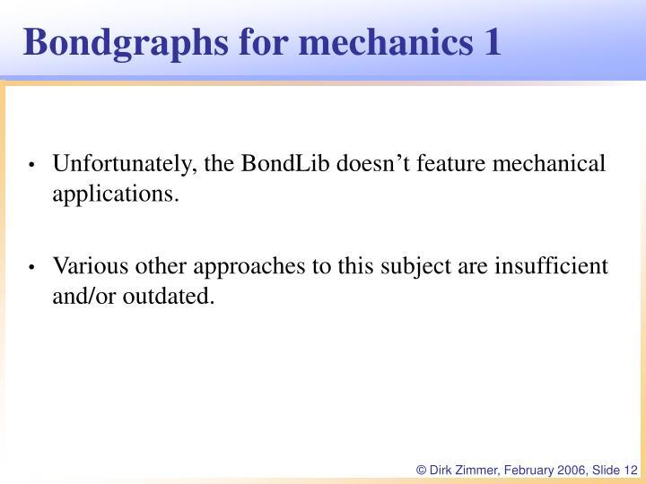 Bondgraphs for mechanics 1