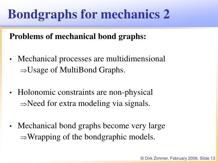 Bondgraphs for mechanics 2
