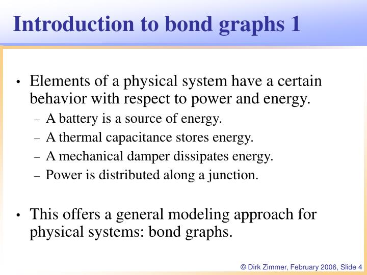 Introduction to bond graphs 1