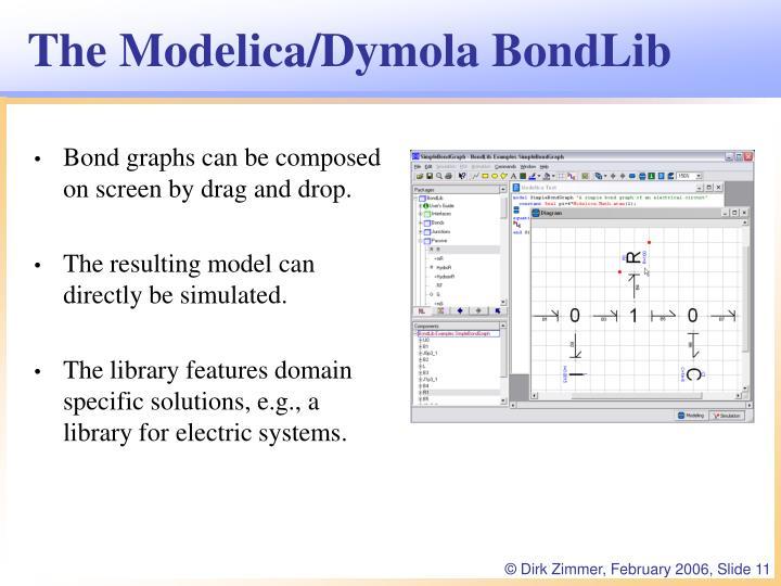 The Modelica/Dymola BondLib