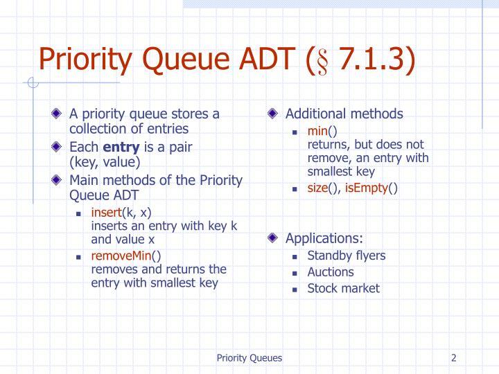 Priority queue adt 7 1 3