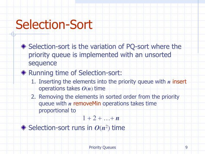 Selection-Sort