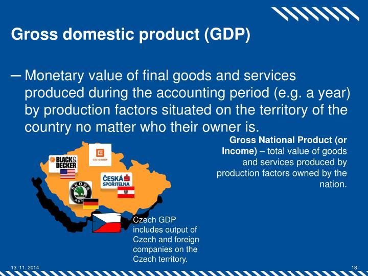 gross domestic product factors Gross domestic product (gdp) can be estimated in three ways which, in theory, should yield identical figures they are (1) expenditure basis: how much money was spent, (2) output basis: how many goods and services were sold, and (3) income basis: how much income (profit) was earned.