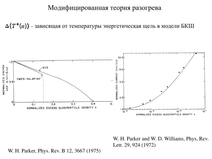 Модифицированная теория разогрева