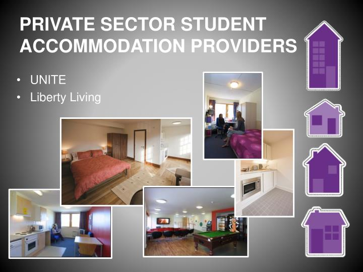PRIVATE SECTOR STUDENT ACCOMMODATION PROVIDERS