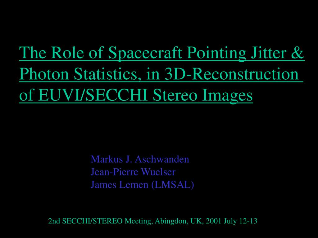 spacecraft jitter - photo #13