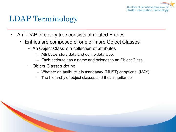 LDAP Terminology