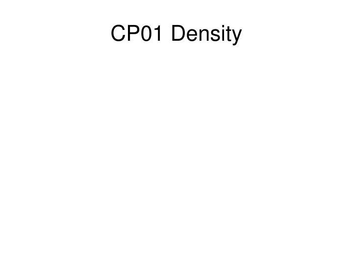 CP01 Density