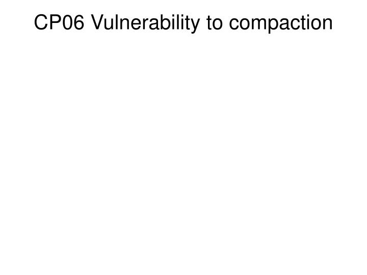 CP06 Vulnerability to compaction
