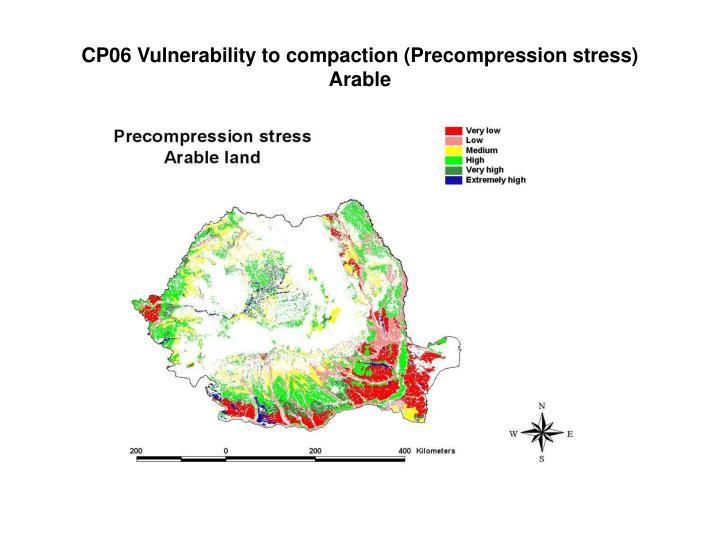 CP06 Vulnerability to compaction (Precompression stress)