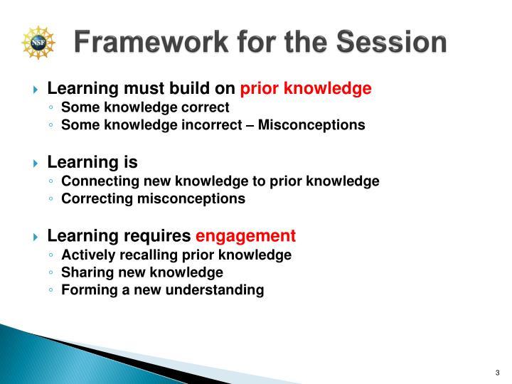 Framework for the session