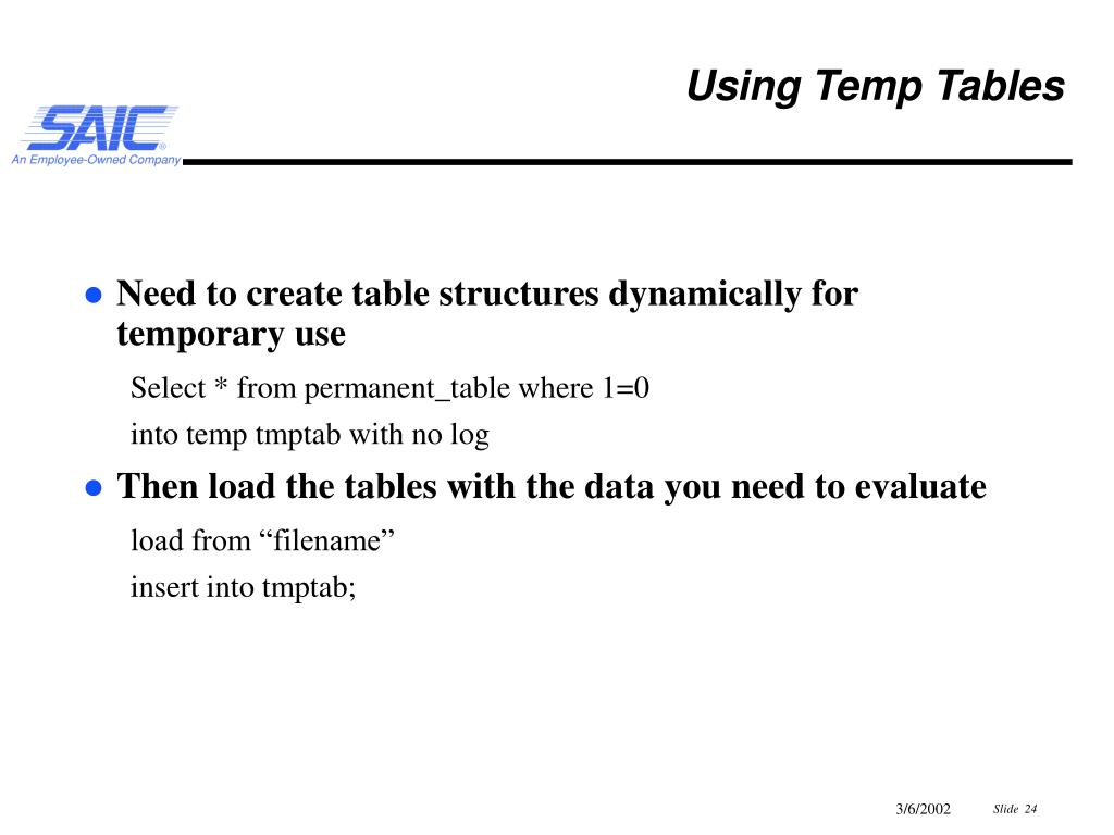 PPT - Informix SQL Tips and Tricks PowerPoint Presentation