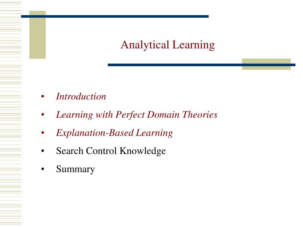 Analytical Learning ppt - analytical learning powerpoint presentation, free