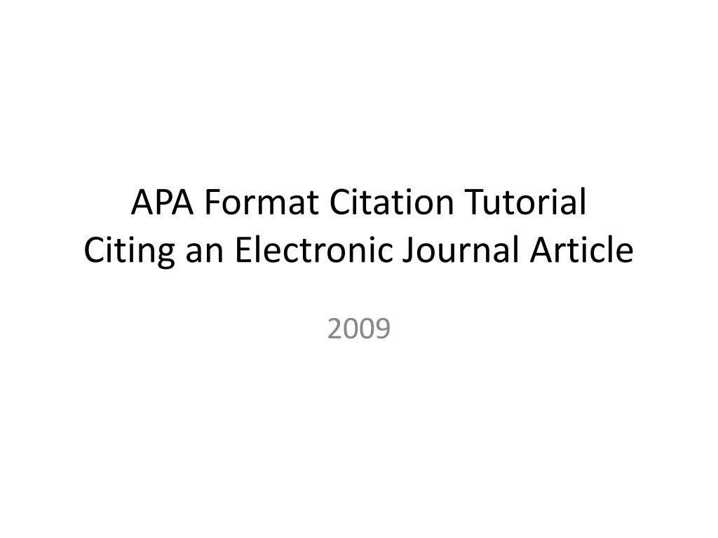 Procurement Technician Cover Letter Apa Format Citation Tutorial Citing An  Electronic Journal Article L Procurement Technician