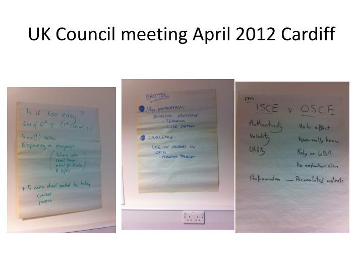 Uk council meeting april 2012 cardiff2