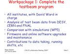 workpackage 1 complete the testbeam program