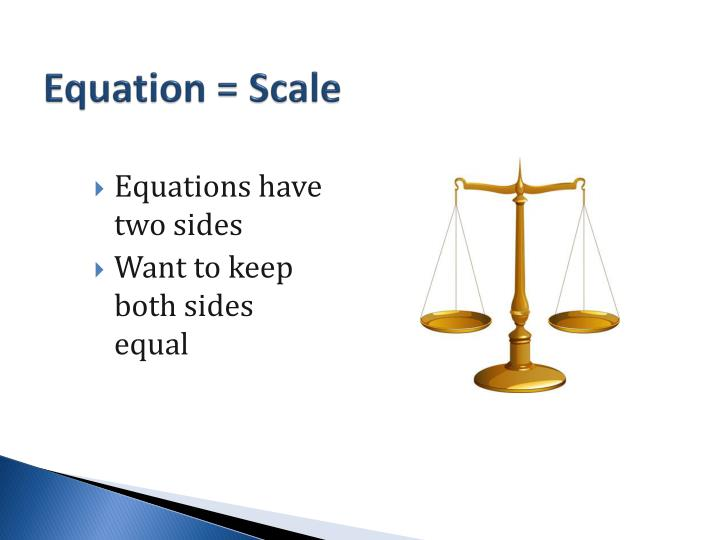 Equation = Scale