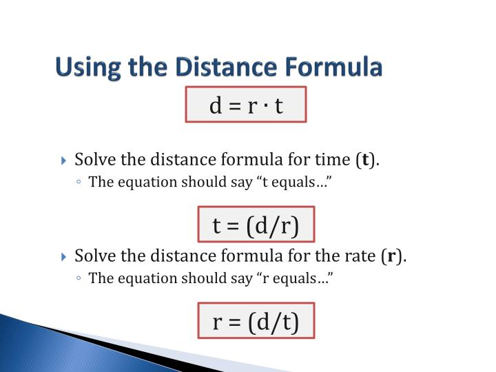 Using the Distance Formula