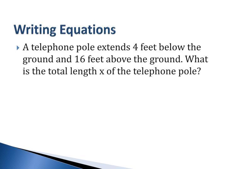 Writing Equations