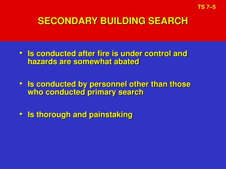 SECONDARY BUILDING SEARCH