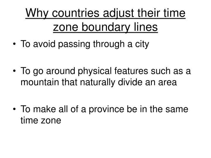 Why countries adjust their time zone boundary lines