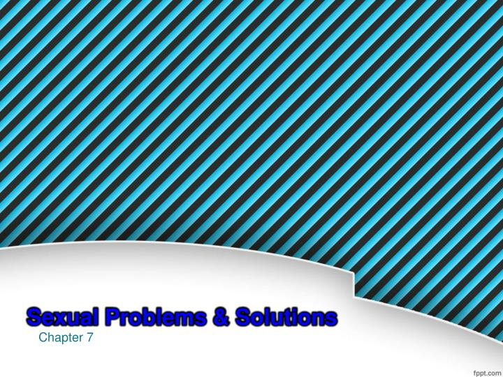 sexual problems solutions n.