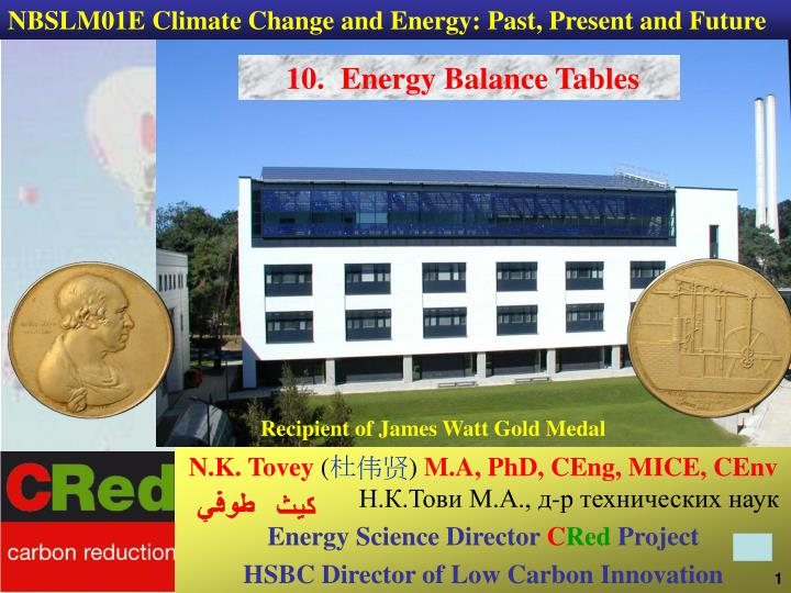 NBSLM01E Climate Change and Energy: Past, Present and Future