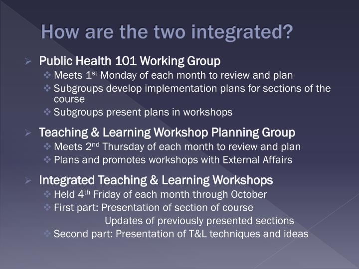 How are the two integrated?
