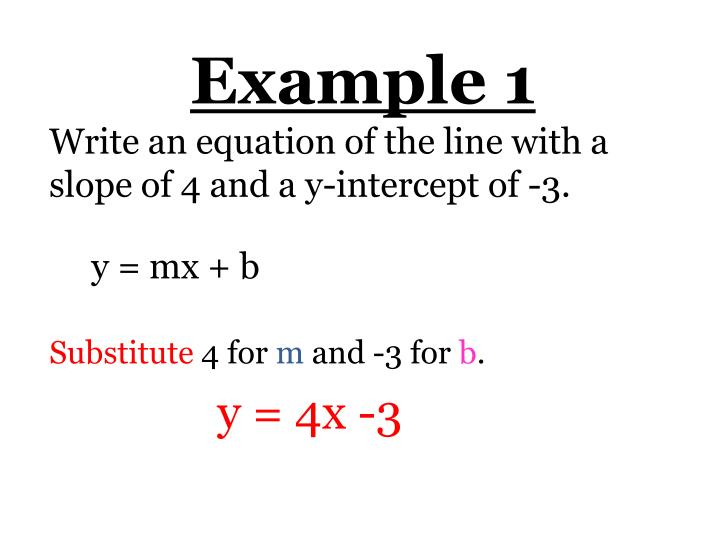 Ppt Section 5 1 Write Linear Equations In Slope Intercept Form